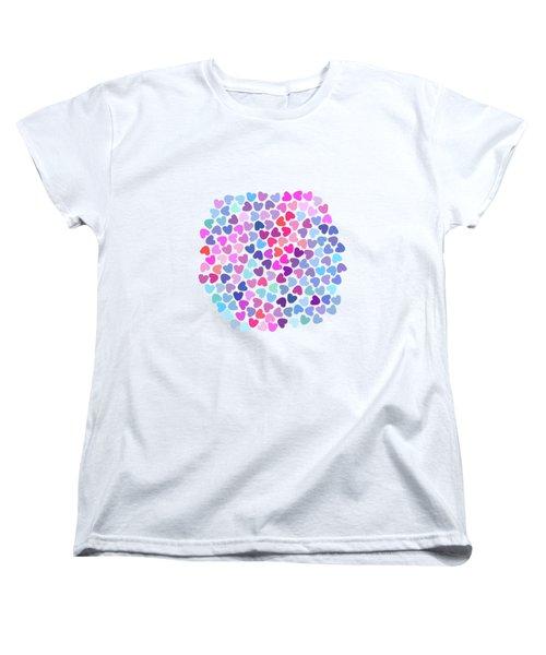Love Love Love Women's T-Shirt (Standard Cut) by Amir Faysal