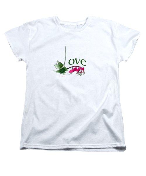 Women's T-Shirt (Standard Cut) featuring the digital art Love Shirt by Ann Lauwers