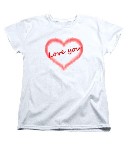 Love You Women's T-Shirt (Standard Cut) by Roger Lighterness