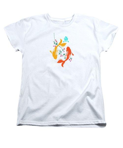 Lucky Koi Fish Women's T-Shirt (Standard Cut) by Naviblue