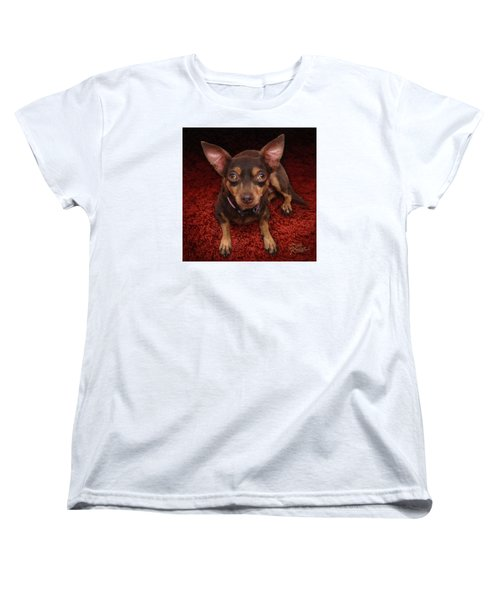 Women's T-Shirt (Standard Cut) featuring the painting Lucy by Doug Kreuger