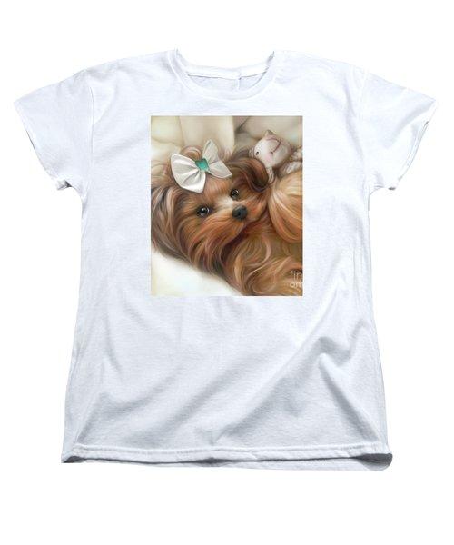 Lulu And Mr.lamb Women's T-Shirt (Standard Cut) by Catia Cho