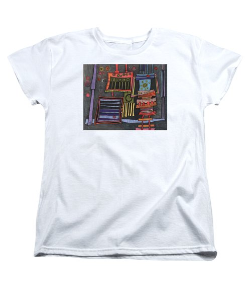 Lurking Under The Bed Women's T-Shirt (Standard Cut) by Sandra Church