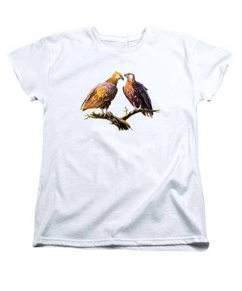 Madagascar Fish Eagle  Women's T-Shirt (Standard Cut) by Anthony Mwangi