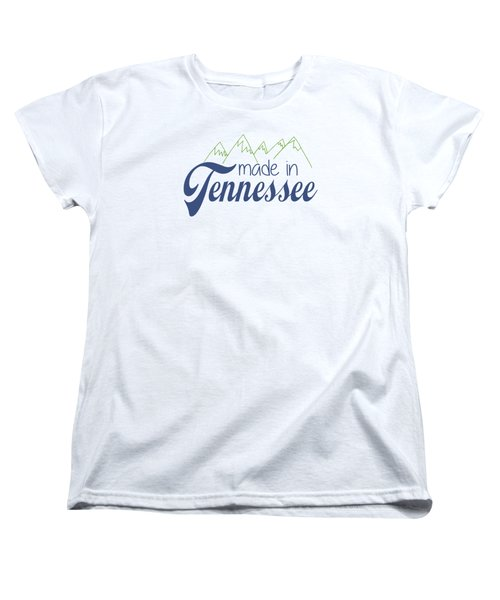 Made In Tennessee Blue Women's T-Shirt (Standard Cut) by Heather Applegate