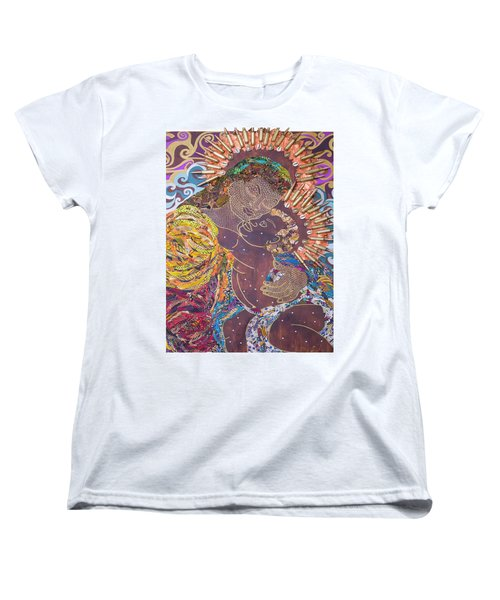 Madonna And Child The Sacred And Profane Women's T-Shirt (Standard Cut) by Apanaki Temitayo M