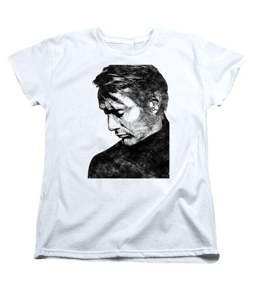 Mads Mikkelsen Women's T-Shirt (Standard Cut) by Mihaela Pater