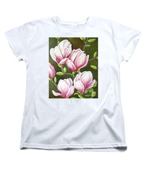 Magnolias Women's T-Shirt (Standard Cut) by Inese Poga