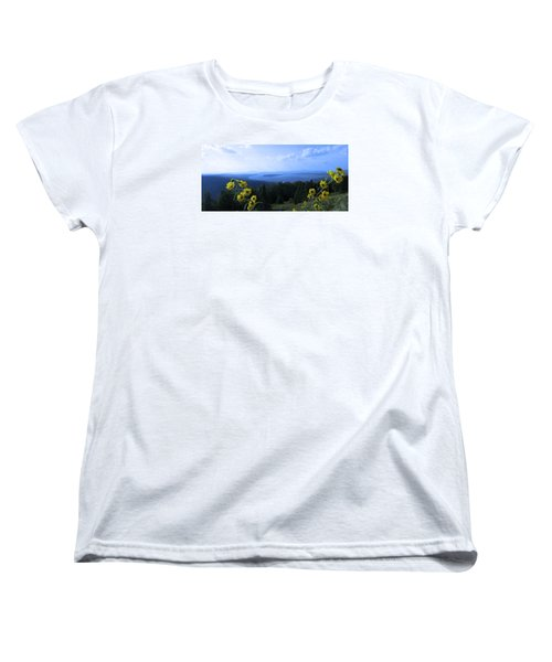 Women's T-Shirt (Standard Cut) featuring the photograph Maine Mountain Vistas by Mike Breau
