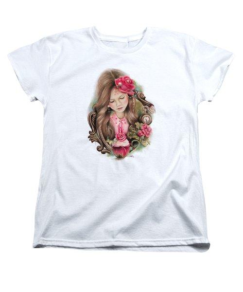 Women's T-Shirt (Standard Cut) featuring the drawing Make A Wish  by Sheena Pike