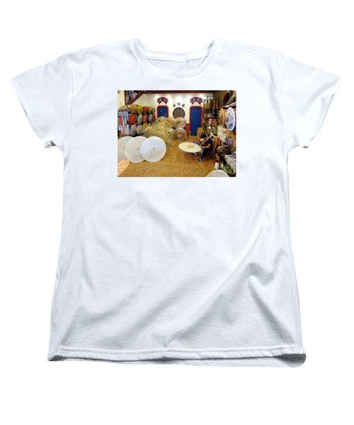 Making Chinese Paper Umbrellas Women's T-Shirt (Standard Cut)