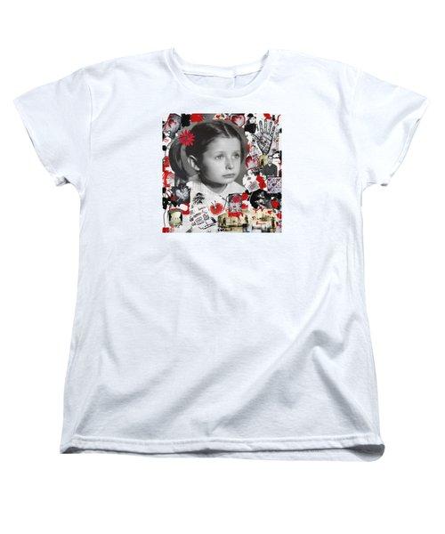 Women's T-Shirt (Standard Cut) featuring the mixed media Mala by Sladjana Lazarevic