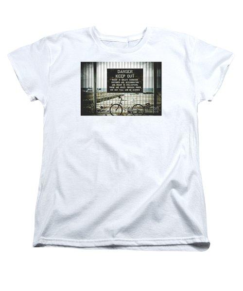 Women's T-Shirt (Standard Cut) featuring the photograph Mala Wharf Lahaina Maui Hawaii by Sharon Mau
