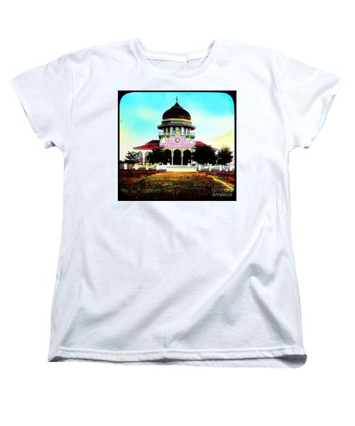 Women's T-Shirt (Standard Cut) featuring the photograph Malay Mosque Singapore Circa 1910 by Peter Gumaer Ogden