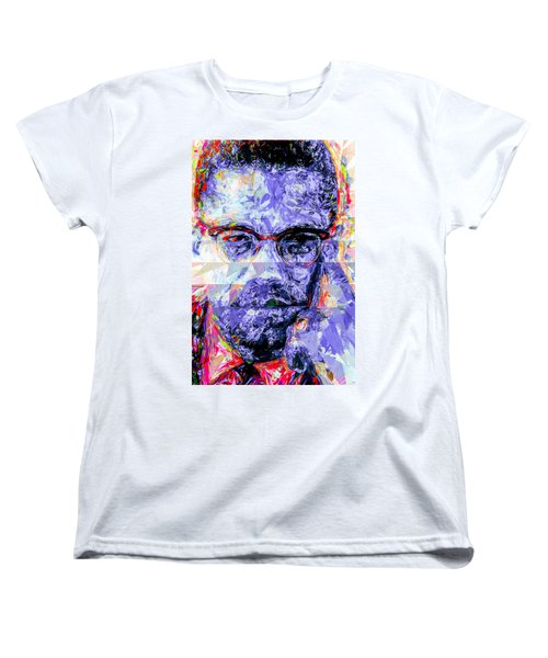 Malcolm X Digitally Painted 1 Women's T-Shirt (Standard Cut) by David Haskett