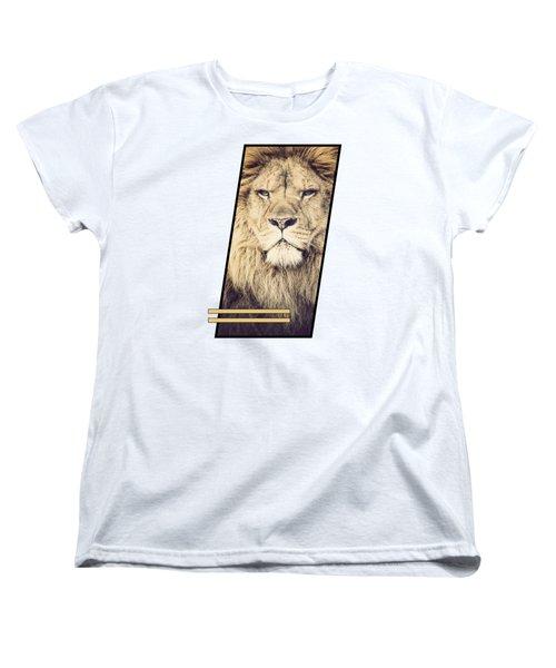 Male Lion Women's T-Shirt (Standard Cut) by Sven Horn