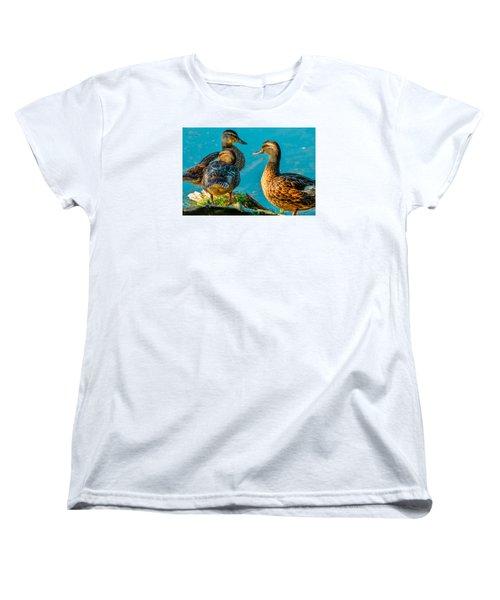 Women's T-Shirt (Standard Cut) featuring the photograph Mallard Ducks 2 by Brian Stevens