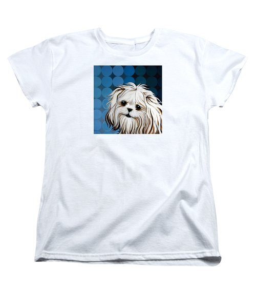 Women's T-Shirt (Standard Cut) featuring the painting Maltese Magic by Leanne WILKES