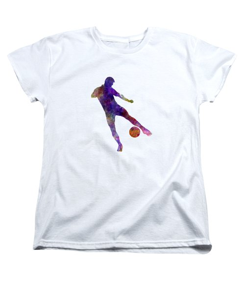 Man Soccer Football Player 02 Women's T-Shirt (Standard Cut) by Pablo Romero