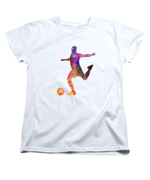 Man Soccer Football Player 03 Women's T-Shirt (Standard Cut) by Pablo Romero