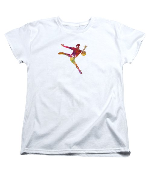 Man Soccer Football Player 08 Women's T-Shirt (Standard Cut) by Pablo Romero