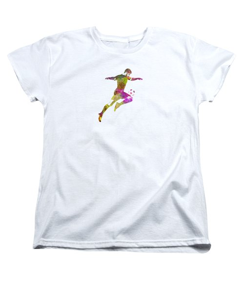 Man Soccer Football Player 12 Women's T-Shirt (Standard Cut) by Pablo Romero