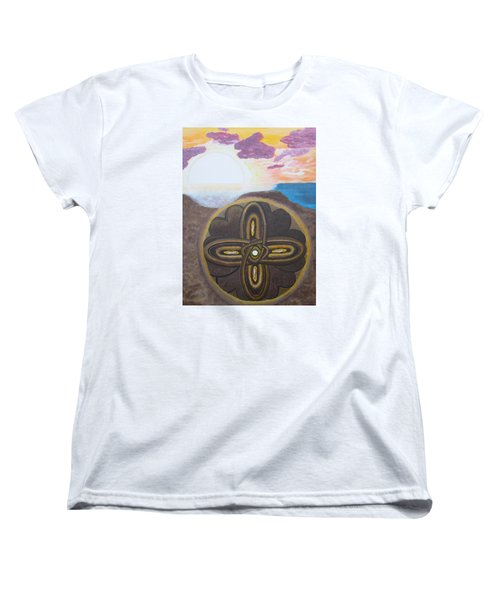 Mandala In The Sand Women's T-Shirt (Standard Cut) by Cheryl Bailey