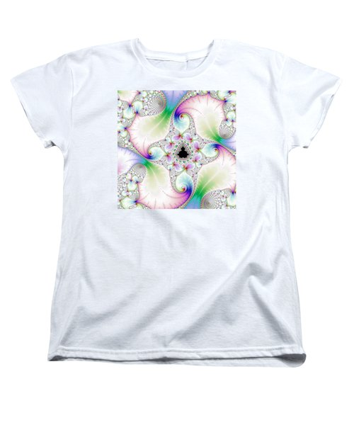 Mandebrot In Pastel Fractal Wonderland Women's T-Shirt (Standard Cut)