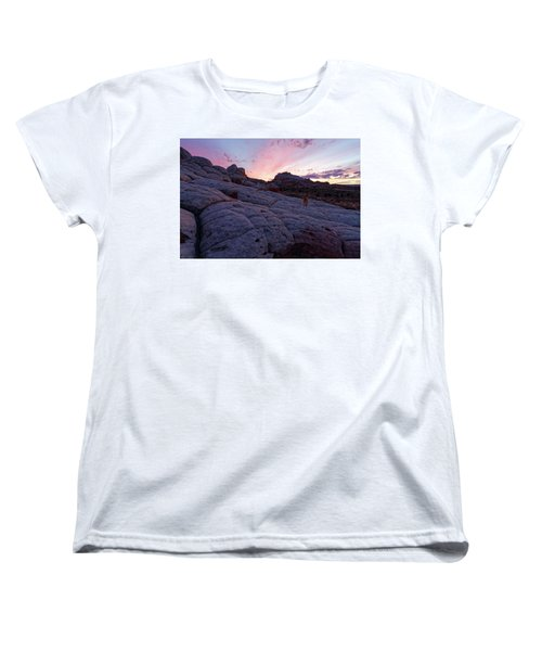 Man's Best Friend Sunset Women's T-Shirt (Standard Cut) by Jonathan Davison