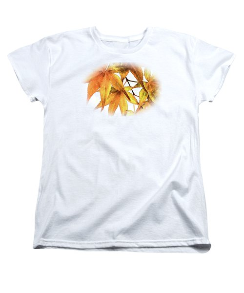 Maple Leaves Women's T-Shirt (Standard Cut) by Barry Jones