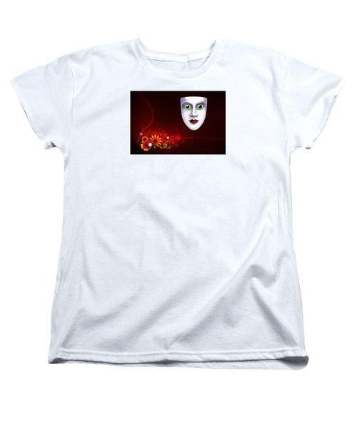 Mardi Gras Mask Red Vines Women's T-Shirt (Standard Cut) by Gary Crockett