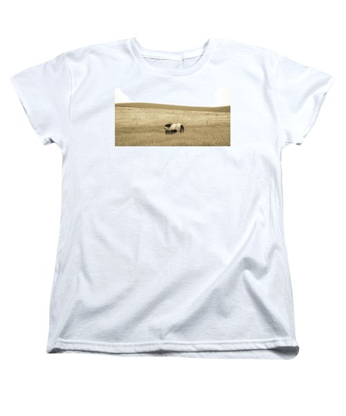 Women's T-Shirt (Standard Cut) featuring the photograph Mare And Foal  by Dawn Romine