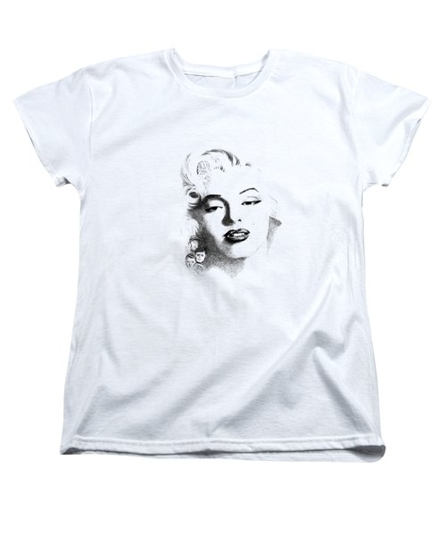 Marilyn  Women's T-Shirt (Standard Cut) by John Barnard