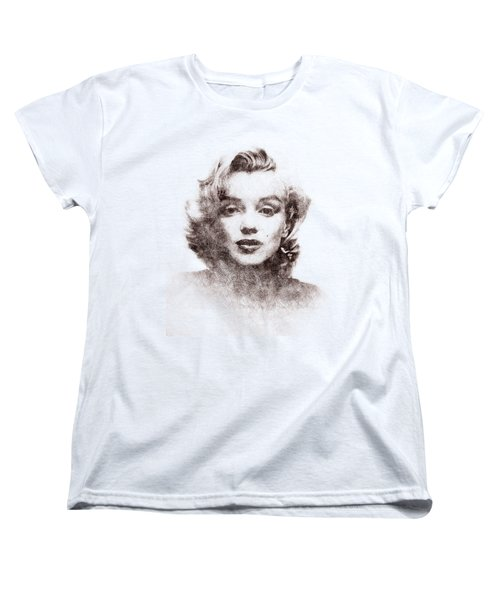 Marilyn Monroe Portrait 04 Women's T-Shirt (Standard Cut) by Pablo Romero