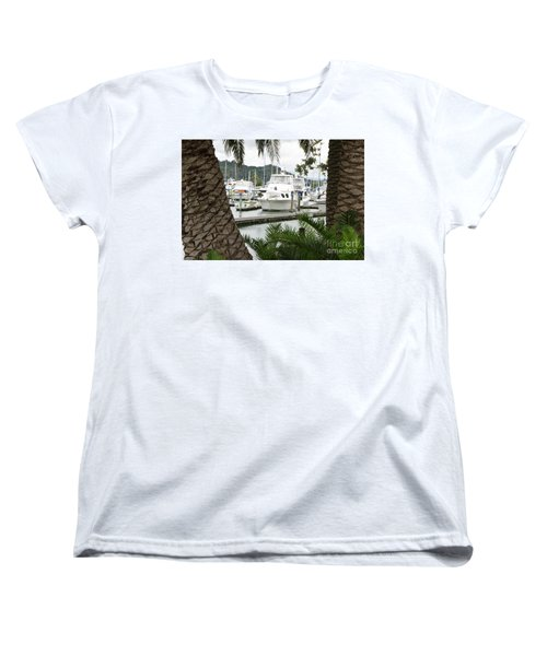 Women's T-Shirt (Standard Cut) featuring the photograph Marina View by Yurix Sardinelly
