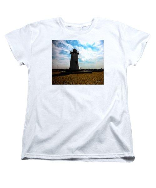 Women's T-Shirt (Standard Cut) featuring the photograph Martha's Vineyard Lighthouse - Massachusetts by Madeline Ellis
