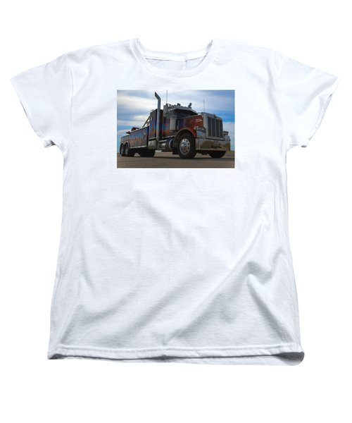 Marvins Big Rig Cars Movie Tribute Tow Truck Women's T-Shirt (Standard Cut) by Tim McCullough
