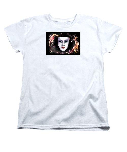 Mask And Vines Women's T-Shirt (Standard Cut) by Gary Crockett
