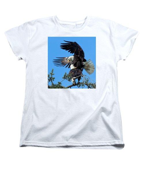 Mating Ritual Women's T-Shirt (Standard Cut) by Sheldon Bilsker