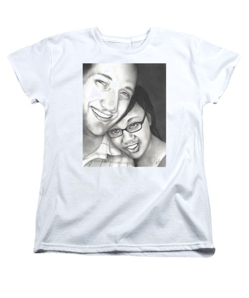 Women's T-Shirt (Standard Cut) featuring the drawing Matt And Jasmine by AC Williams