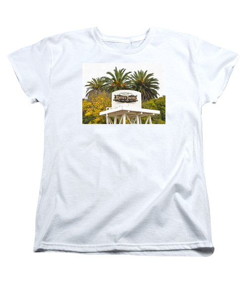 Women's T-Shirt (Standard Cut) featuring the photograph Matties Tavern Los Olivos California by Floyd Snyder