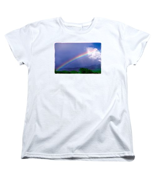Women's T-Shirt (Standard Cut) featuring the photograph Maui Rainbow by Marie Hicks