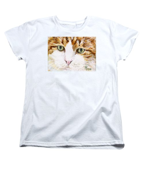 Women's T-Shirt (Standard Cut) featuring the painting Max by Mary-Lee Sanders