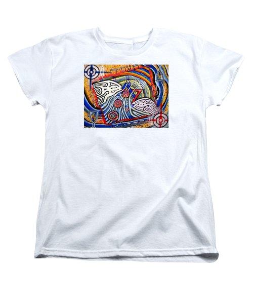 Mazalcha Your Stars Women's T-Shirt (Standard Cut) by Luke Galutia