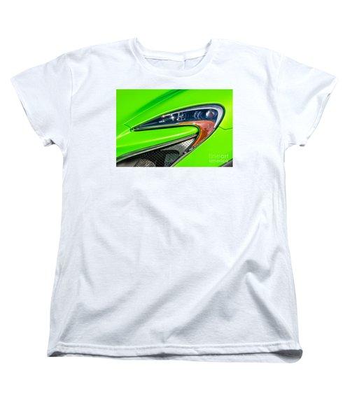 Women's T-Shirt (Standard Cut) featuring the photograph Mclaren P1 Headlight by Aloha Art