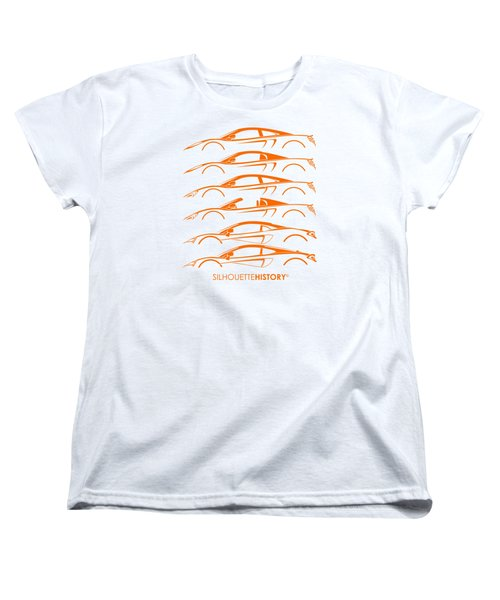 Mcsportscar Silhouettehistory Women's T-Shirt (Standard Cut) by Gabor Vida
