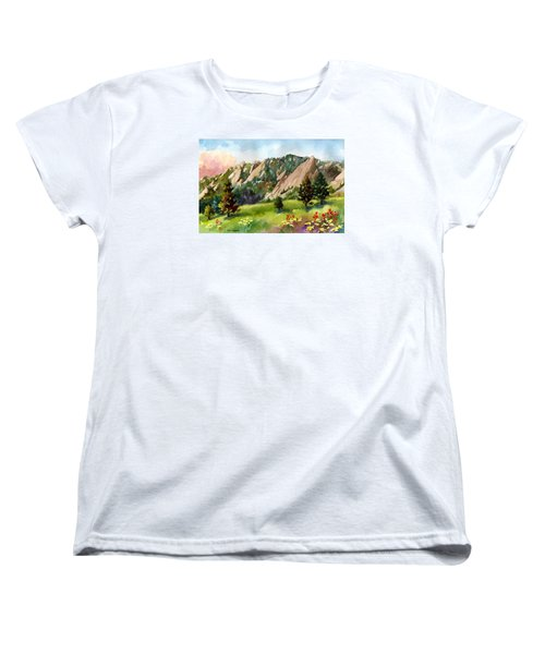 Women's T-Shirt (Standard Cut) featuring the painting Meadow At Chautauqua by Anne Gifford