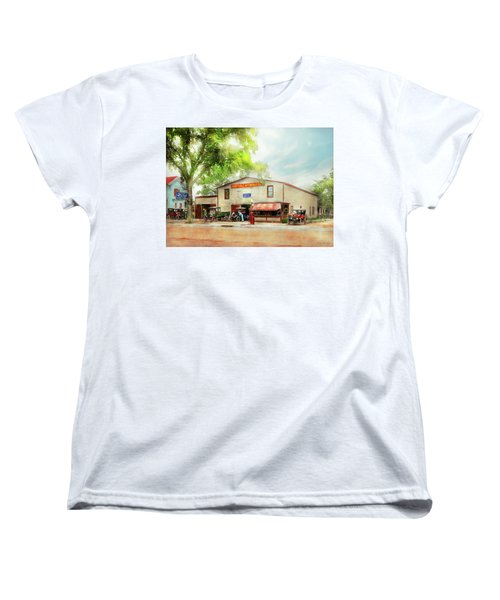Women's T-Shirt (Standard Cut) featuring the photograph Mechanic - All Cars Finely Tuned 1920 by Mike Savad