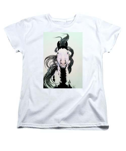 Medicine Hat Tobiano Women's T-Shirt (Standard Cut) by Cheryl Poland