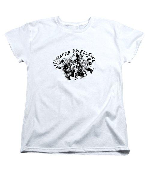 Melanated Excellence IIi Women's T-Shirt (Standard Cut) by Alkebulan